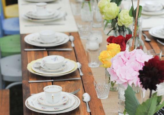Fleurs et décoration pour salle de réception, table de mariage