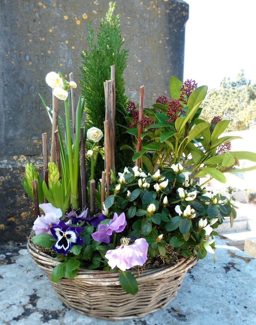» Coupe de fleurs pour cimetiere Ile de Ré