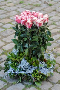 comp02 - Composition de roses, 1.50 € la rose