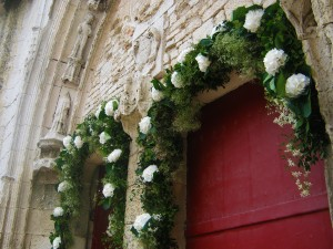 Mariage religieux vert-blanc02